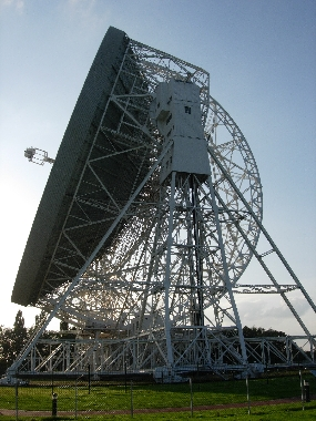 The 76.2-m Lovell radio telescope at the Jodrell Bank Observatory